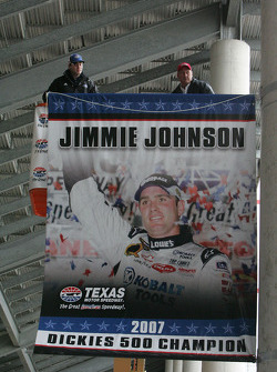 Jimmie Johnson's Championship Banner