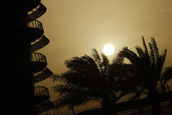 The sun sets in Bahrain