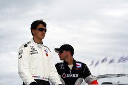 Graham Rahal and Franck Perera
