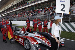 #2 Audi Sport Team Joest Audi R10 TDI on the starting grid