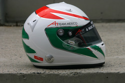 Jorge Goeters, driver of A1 Team Mexico helmet