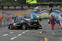 Timo Scheider, Audi Sport Team Abt GW:plus/Top Service Audi A4 DTM 2008 leaving the garage