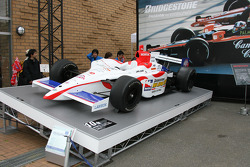An IndyCar series car on display
