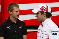 Timo Glock, Toyota F1 Team, Sebastian Vettel, Scuderia Toro Rosso