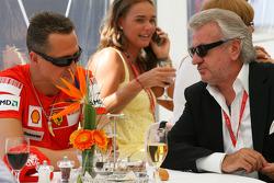 Michael Schumacher, Test Driver, Scuderia Ferrari with Willi Weber, Driver Manager