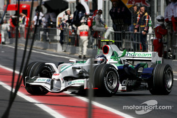 Rubens Barrichello, Honda Racing F1 Team out of the race