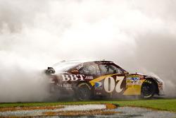 Race winner Clint Bowyer celebrates