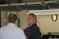 Larry Curry in the Roth Racing garage
