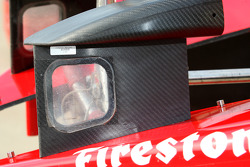 Side-view mirror of Target Chip Ganassi livery