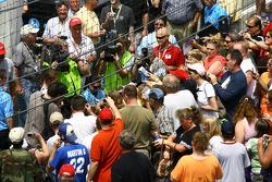 Fans swarm Danica Patrick for autographs