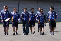 Fernando Alonso, Renault F1 Team, Nelson A. Piquet, Renault F1 Team, Sakon Yamamoto, Test Driver, Renault F1 Team