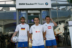 Nick Heidfeld, BMW Sauber F1 Team, Robert Kubica,  BMW Sauber F1 Team, Christian Klien, Test Driver, BMW Sauber F1 Team