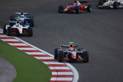 Giorgio Pantano leads the field through turn one on the opening lap of the race