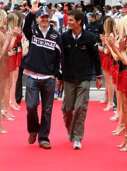 Robert Kubica, BMW Sauber F1 Team and Mark Webber, Red Bull Racing
