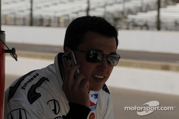 Graham Rahal on the phone