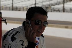 Graham Rahal on the phone