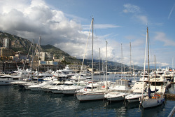 The Monaco harbour