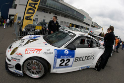 HISAQ Competition Porsche 997 GT3 RSR at technical inspection