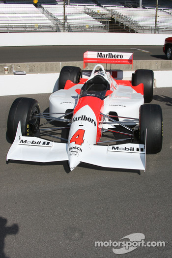 An historic Indycar on display