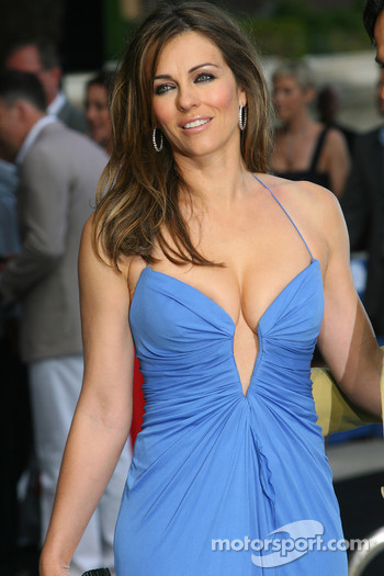 Liz Hurley Amber Fashion which benefits the  Elton John Aids Foundation