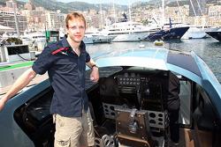 Sébastien Bourdais, Scuderia Toro Rosso on a boat