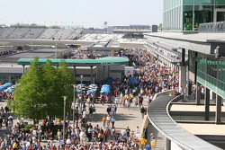 Crowds arrive for the running of the 92nd Indianapolis 500