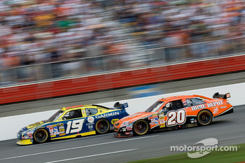 Elliott Sadler and Tony Stewart