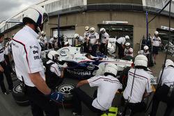 BMW Sauber F1 Team, F1.08, Pit Stop Practice
