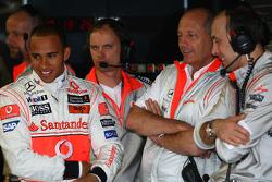 Lewis Hamilton, McLaren Mercedes with Ron Dennis, McLaren, Team Principal, Chairman