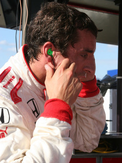 Justin Wilson after a very hot qualifying session