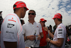 Lewis Hamilton, McLaren Mercedes and David Coulthard, Red Bull Racing