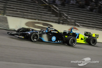 Danica Patrick passing Ed Carpenter