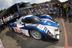 #10 Charouz Racing System Lola Aston Martin at scrutineering