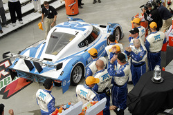 The winning #1 Chip Ganassi with Felix Sabates Lexus Riley: Scott Pruett, Memo Rojas