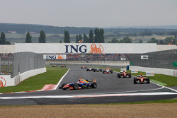 Pace lap: Bruno Senna