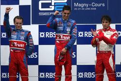 Podium: race winner Sebastien Buemi, second place Yelmer Buurman, third place Luca Filippi