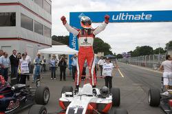 Race winner Nico Hulkenberg celebrates