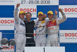 Podium: race winner Jamie Green, second place Bruno Spengler, third place Timo Scheider, Gerhard Ungar