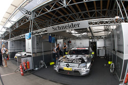 Team HWA AMG Mercedes, AMG Mercedes C-Klasse of Bernd Schneider ready for the race