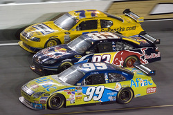 Carl Edwards, Brian Vickers and Sam Hornish Jr.