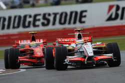 Giancarlo Fisichella, Force India F1 Team, VJM-01 and Felipe Massa, Scuderia Ferrari, F2008