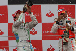 Podium: third place Rubens Barrichello