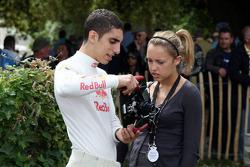 Sebastian Buemi Red Bull Racing with his girlfriend