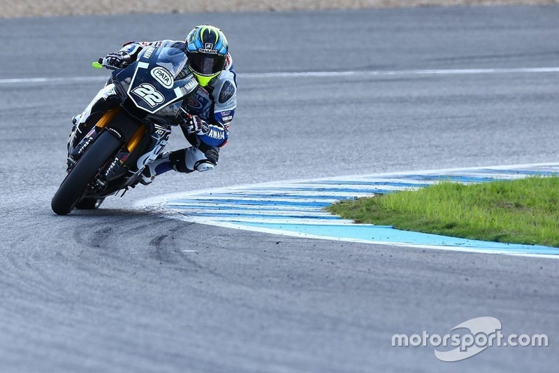 Alex Lowes, Yamaha YZF-R1 at Jerez November testing