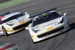 #10 Scuderia Autoropa Ferrari 458: Henrik Hedman and #410 Ferrari Jakarta Ferrari 458: Renaldi Hutasoit