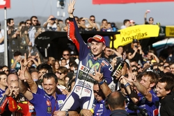 Winner and 2015 MotoGP Champion Jorge Lorenzo, Yamaha Factory Racing