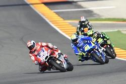 Andrea Dovizioso, Ducati Team and Aleix Espargaro, Team Suzuki MotoGP and Pol Espargaro, Tech 3 Yamaha