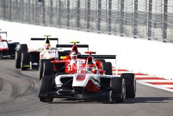 Esteban Ocon, ART Grand Prix leads Emil Bernstorff, Arden International