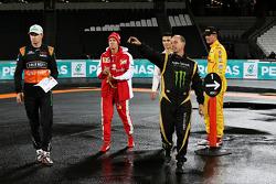 Nico Hulkerberg, Sebastian Vettel, Pascal Wehrlein, Ryan Hunter-Reay