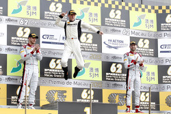 Podium: winner Maro Engel, Mercedes AMG Driving Academy, second place Edoardo Mortara, Audi Sport Team Phoenix, third place René Rast, Audi Sport Team WRT